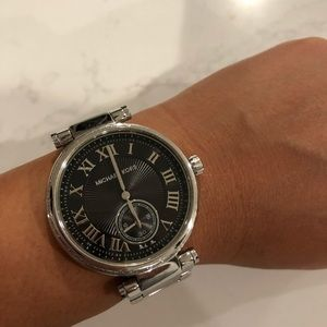 Michael Kors Dark Gray Face Silver Watch